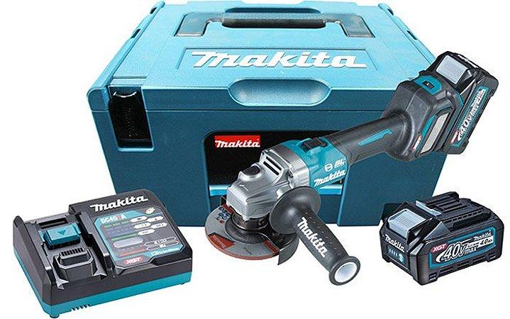 Esmerilhadeira Angular 4 1/2 Com 2 Baterias e Carregador 220V - GA022GM201 - Makita