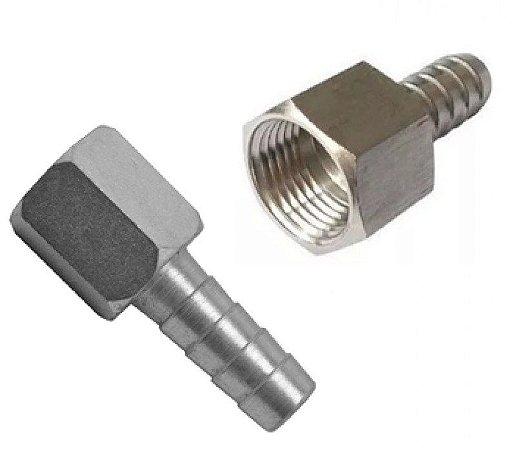 Espigao Fixo Femea 1/4x3/8 Aço - R103F - DDS
