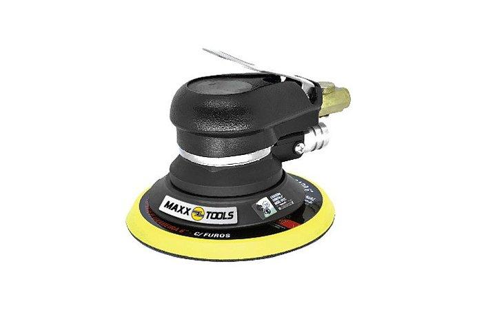 "Lixadeira Roto Orbital 6"" Pneumática C/Aspiração MXT-0312C - Maxx Tools"