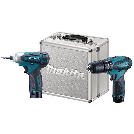 Combo Parafusadeira/Furadeira de Impacto + Parafusadeira de Impacto a Bateria 12V - DK1493 - Makita