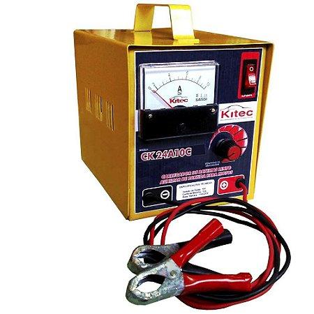 Carregador de Bateria 127V/220V 10A 24V - CK24A10C - Kitec