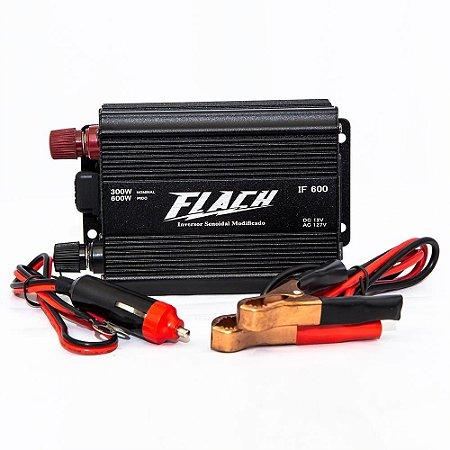 Inversor de Tensão 12V/127V - 600W Pico 300W - IF600-3 - Flach