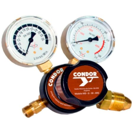 Regulador de Pressão Argônio para Cilindros MDN G 30 - 407785 - Condor