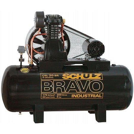 Compressor de Ar Bravo CSL 20 BR/200L 5CV 220/380V - 922.7759-0 - Schulz