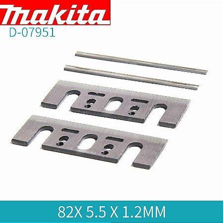 Lâmina p/ Plaina 82mm TC MINI Dupla Face (2 Peças) - D-07951 - Makita