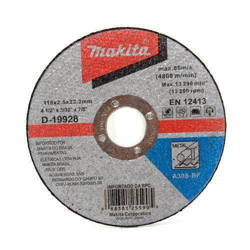 Disco de Corte Abrasivo Fino 4 1/2x3/32x7/8 GR 30 - D-19928-10 - Makita