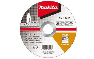 Disco de Corte Abrasivo Fino 4 1/2x3/64x7/8 GR 60 - B-12217-10 - Makita