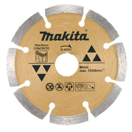 Disco Diamantado Segmentado 105 mm - D-42531 - Makita