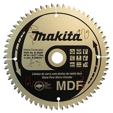 Lâmina p/ Serra Circular 185x20mm 60D (MDF) - B-50267 - Makita
