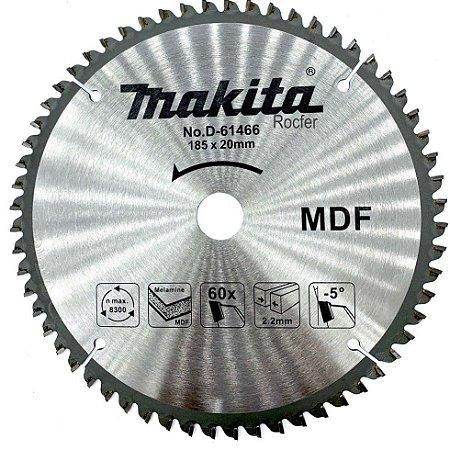 Lâmina p/ Serra Circular 185x20mm 60D (MDF) - D-61466 - Makita