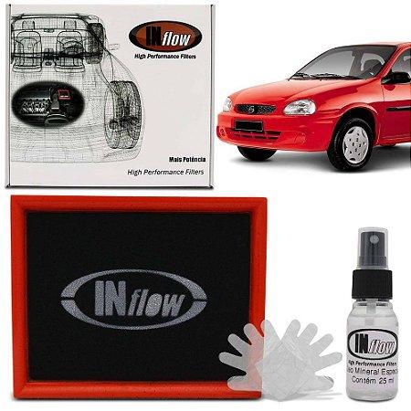Filtro de Ar Esportivo Inflow inbox semi racing Chevrolet Classic, Corsa, Agile, Tigra e Montana HPF1300