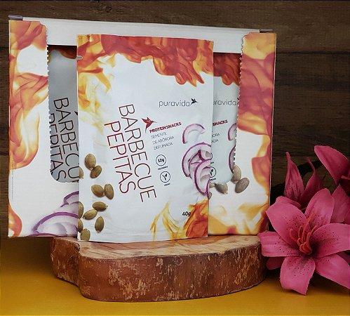 Box com 10 unidades - Barbecue Pepitas Protein Snacks - PURA VIDA