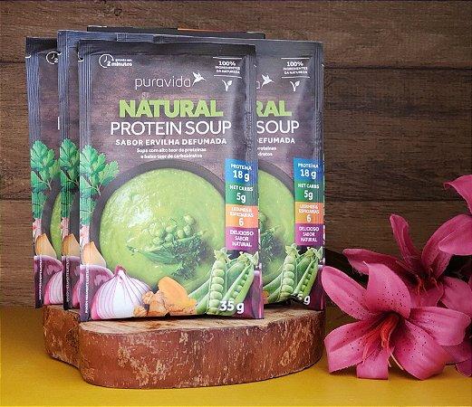 Box com 10 sachês - Natural Protein Soup Ervilha Defumada - PURA VIDA