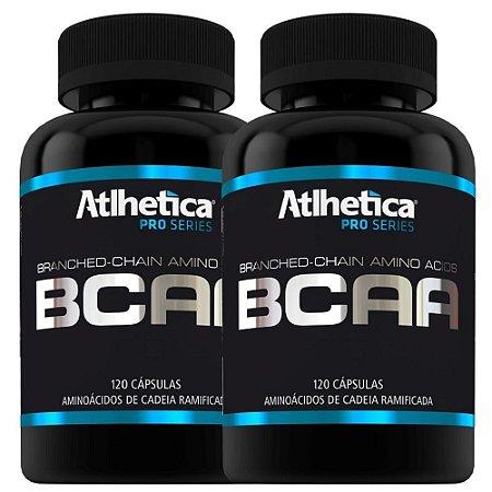 BCAA PRO SERIES 120 CÁPSULAS - ATLHETICA NUTRITION (KIT 2 potes)
