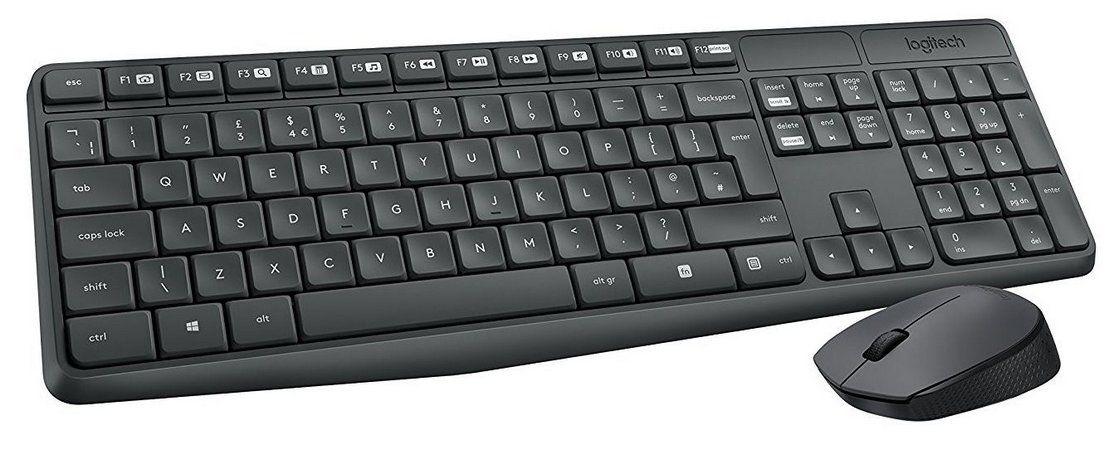 kit teclado e mouse wireless- sem fio MK235 - logitech