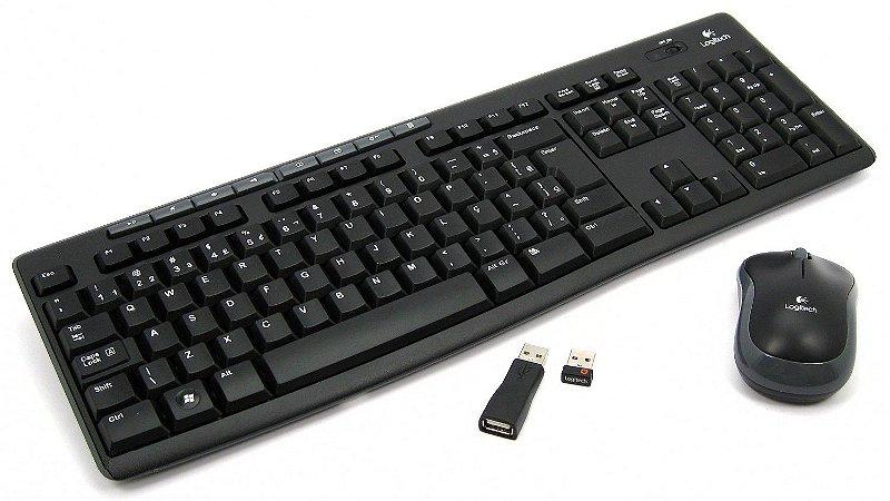 kit teclado e mouse wireless- sem fio MK270 - logitech