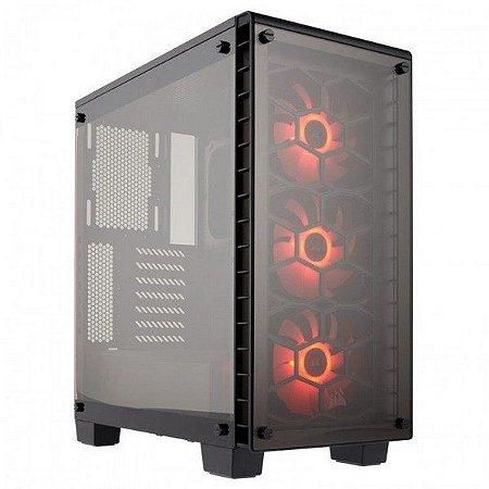 Gabinete Infinity Gamer Em Vidro Temperado 3 Fans Rgb 120mm