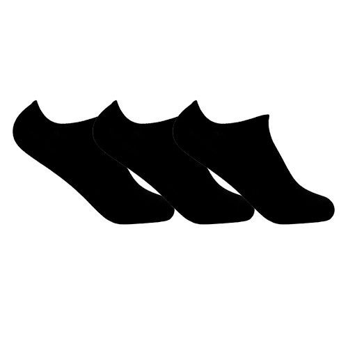 Kit 3 Meias Invisíveis de Algodão Preta Ted Socks 1100 Tam 39 a 45