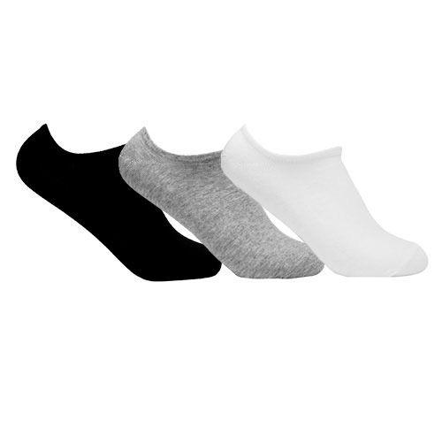 Kit 3 Meias Invisível de Algodão Cores Sortidas Ted Socks 1100 Tam 39 a 45