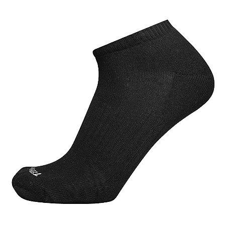 Meia de Algodão Cano Curto Preta Ted Socks 1400