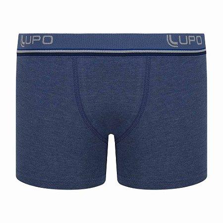 Cueca Lupo Boxer Infantil Algodão Azul Jeans 141