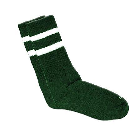 Meia Cano Longo Verde Listrada Ted Socks 2700