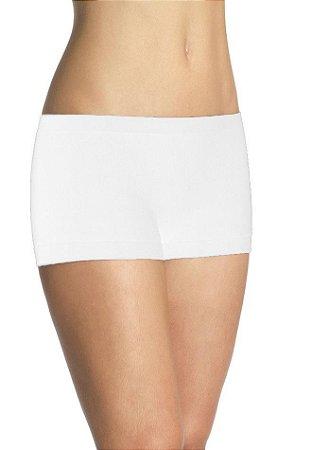 Kit com 10 Calcinhas Short Lupo Loba Sem Costura Poliamida Branca