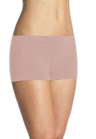 Kit com 10 Calcinhas Short Lupo Loba Sem Costura Poliamida Nude