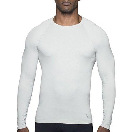 Camiseta Compressão Lupo Proteção Solar Uv 50+ Segunda Pele Branca 70632