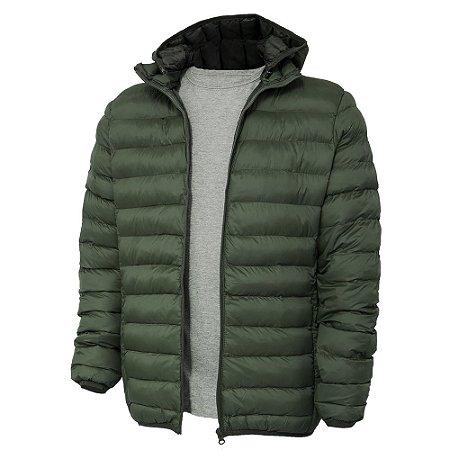 Jaqueta de Nylon Puff Unissex Verde