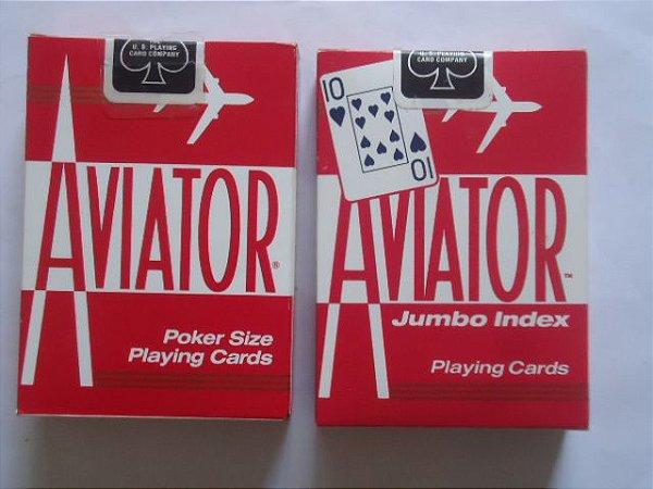 2 Baralhos Aviator  Vermelho 1 Jumbo  1 Regular Poker 917