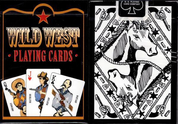 Baralho  Wild West  Preto  56 Cartas 4 Coringas