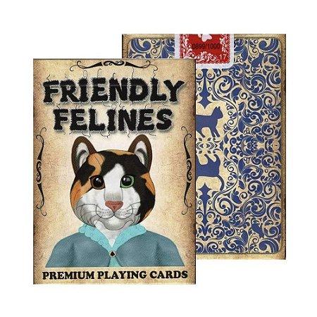 Baralho Friendly Felines magica Truques Poker  - 2 Gaff Cards