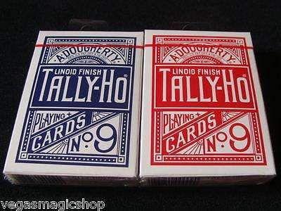 Baralho Tally- Ho Circle Back  Azul OU Vermelho Cadastry Magica Poker