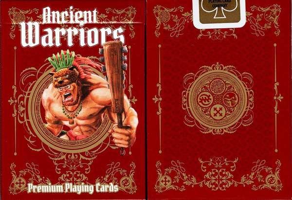 Baralho Ancient Warriors Vermelho  USPCC  magica Poker - 2 Cartas Bônus