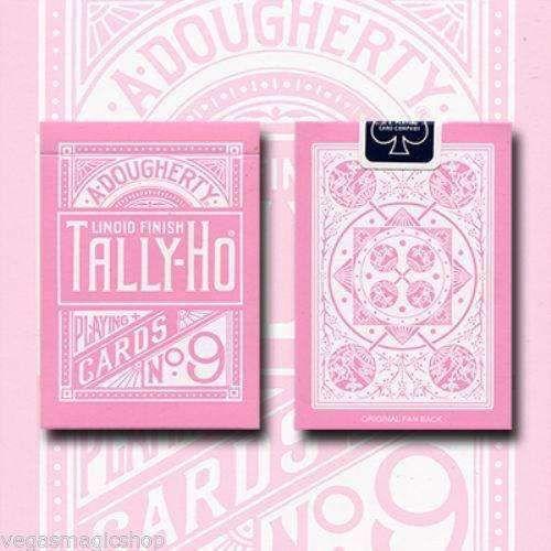 Baralho Tally-Ho Reverse Rosa  Fan  Back - 1 Double Back