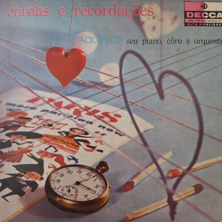 LP - Jack Pleis seu Piano, Côro e Orquestra - Cordas e Recordações