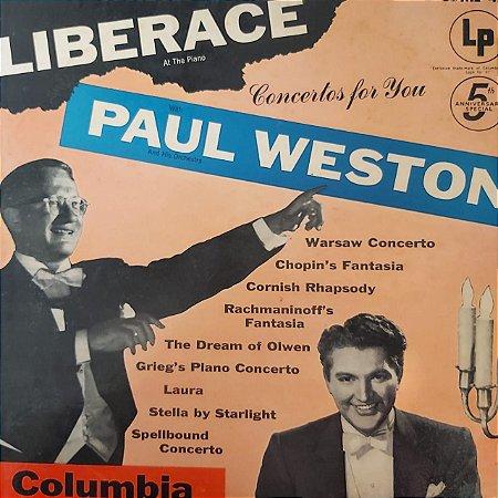 LP - Liberace And Paul Weston – Concertos For You (Importado US)