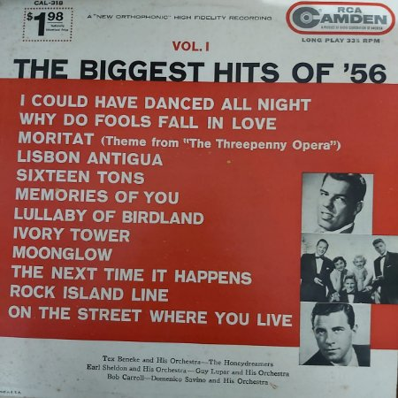 LP - The Biggest Hits Of '56 Vol. 1 (Vários Artistas) (Importado US)