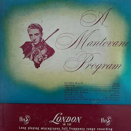 "LP - Mantovani And His Orchestra – A Mantovani Program (Importado US) (10"")"