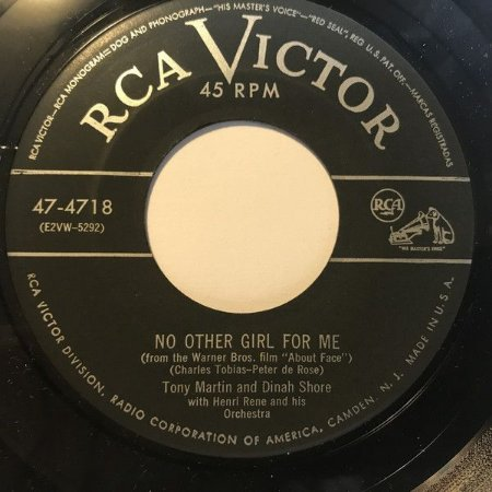 COMPACTO - Tony Martin , Dinah Shore – No Other Girl For Me / If Someone Had Told Me