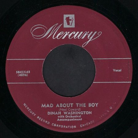COMPACTO - Dinah Washington - Mad About The Boy / I Cant't Face The Music