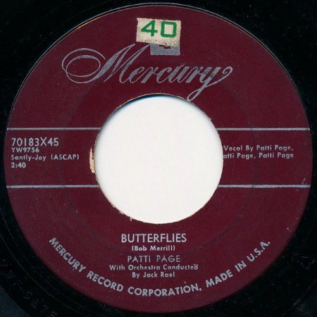 COMPACTO - Patti Page - Butterflies / This is My Song