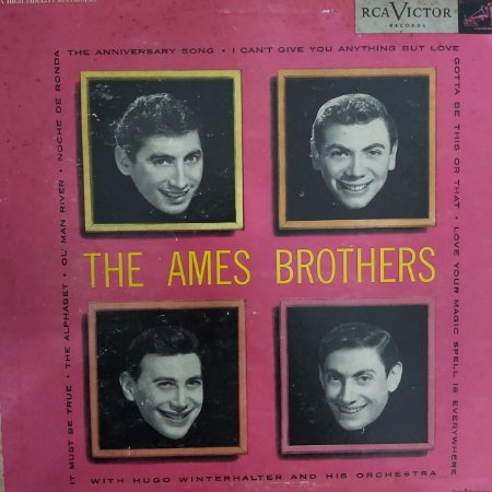 """LP - The Ames Brothers – The Ames Brothers (Importado Us) (10"""")"""