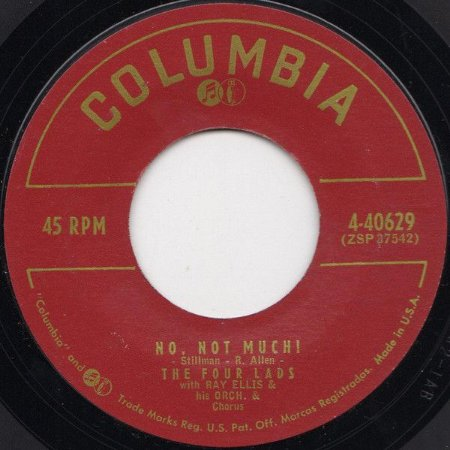 COMPACTO - The Four Lads – The Four Lads – No, Not Much! / I'II Never Know