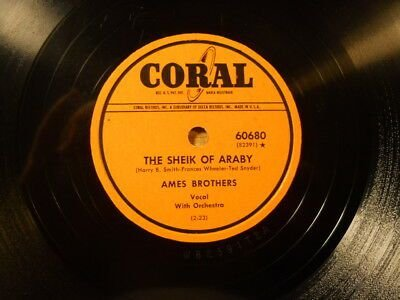 COMPACTO - Ames Brothers – And So I Waited Around / The Sheik Of Araby
