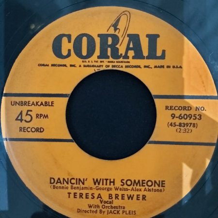 COMPACTO - Teresa Brewer – Dancin' With Someone / Breakin' In The Blues (Importado US)