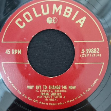 COMPACTO - Frank Sinatra – The birth Of The Blues / Why Try To Change Me Now (Importado US)