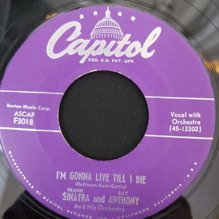 COMPACTO - Frank - Melody Of Love / I'm Gonna Live Till I Die (Importado US)