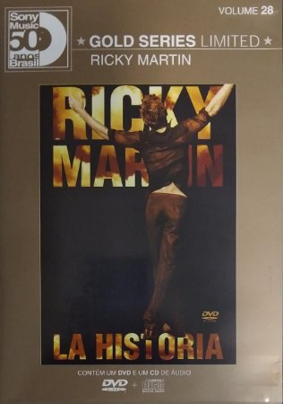 CD + DVD(BOX) - Ricky Martin – La Historia (Série Limitada Sony Music 50 anos Brasil)